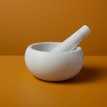 White Marble Mortar & Pestle XL