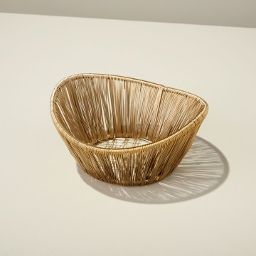 Gold Rhythm Wire Small Basket