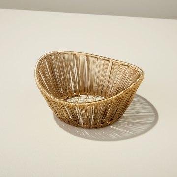 Gold Rhythm Wire Small Basket
