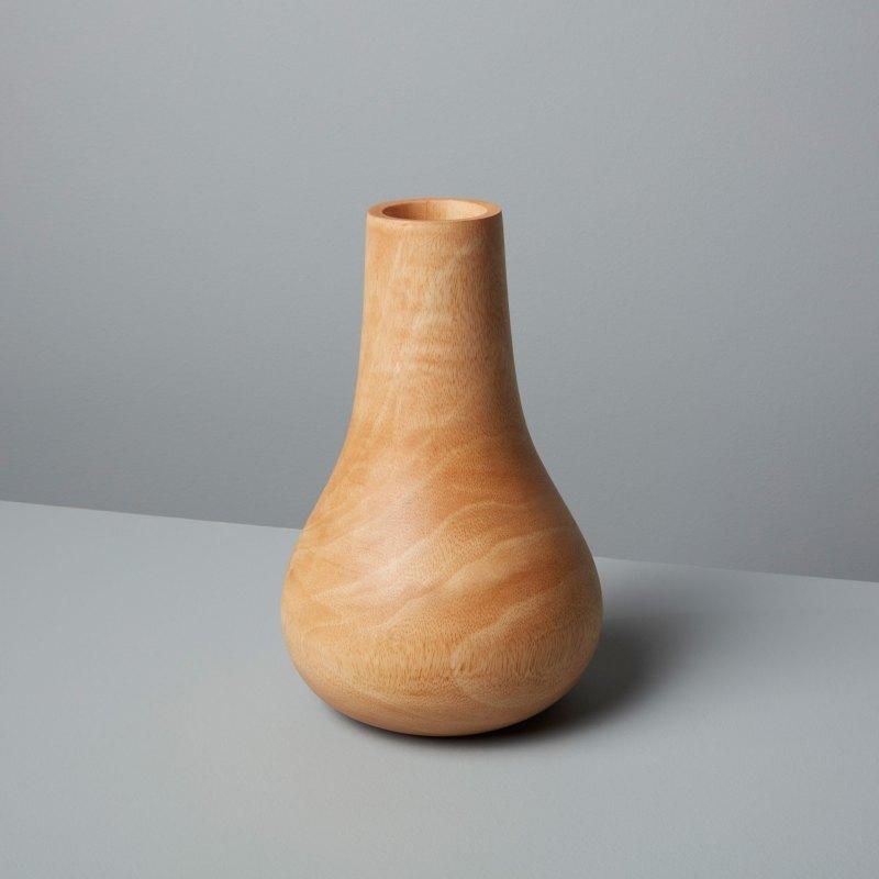 Mango Wood Bulb Vase