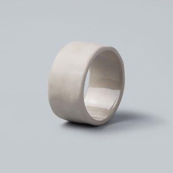 Stoneware Napkin Ring, Slate