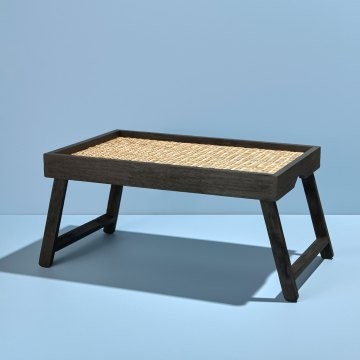 Black Mango and Rattan Breakfast Tray