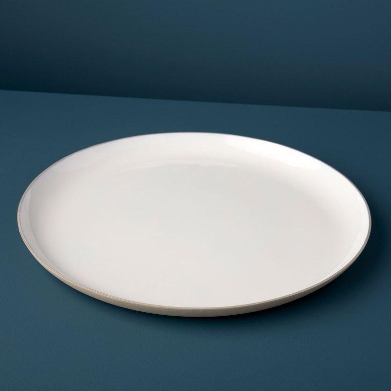 Dove Aluminum & Enamel Round Platter