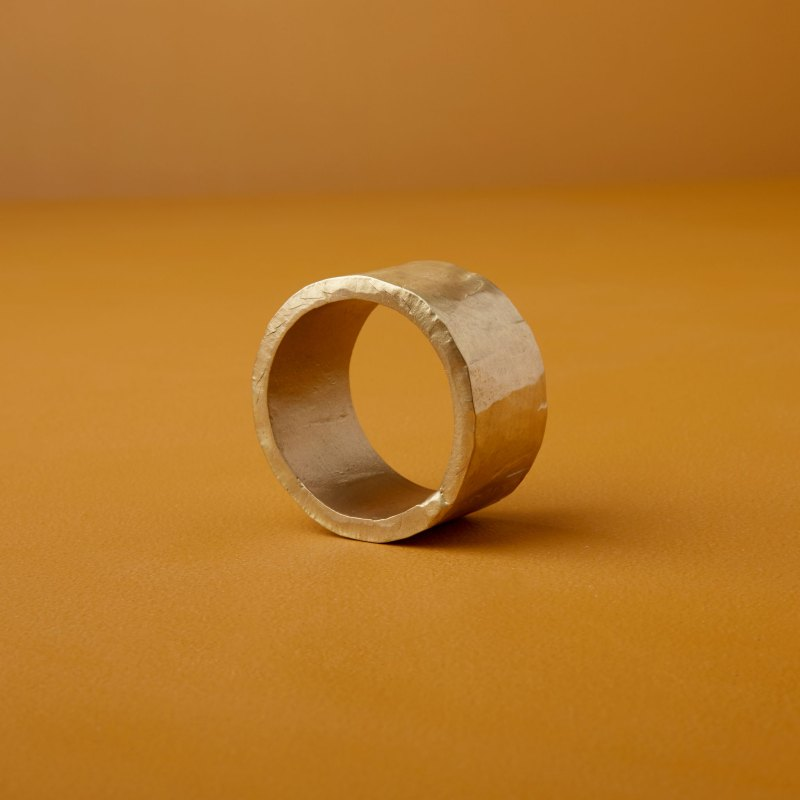 Forged Gold Napkin Ring