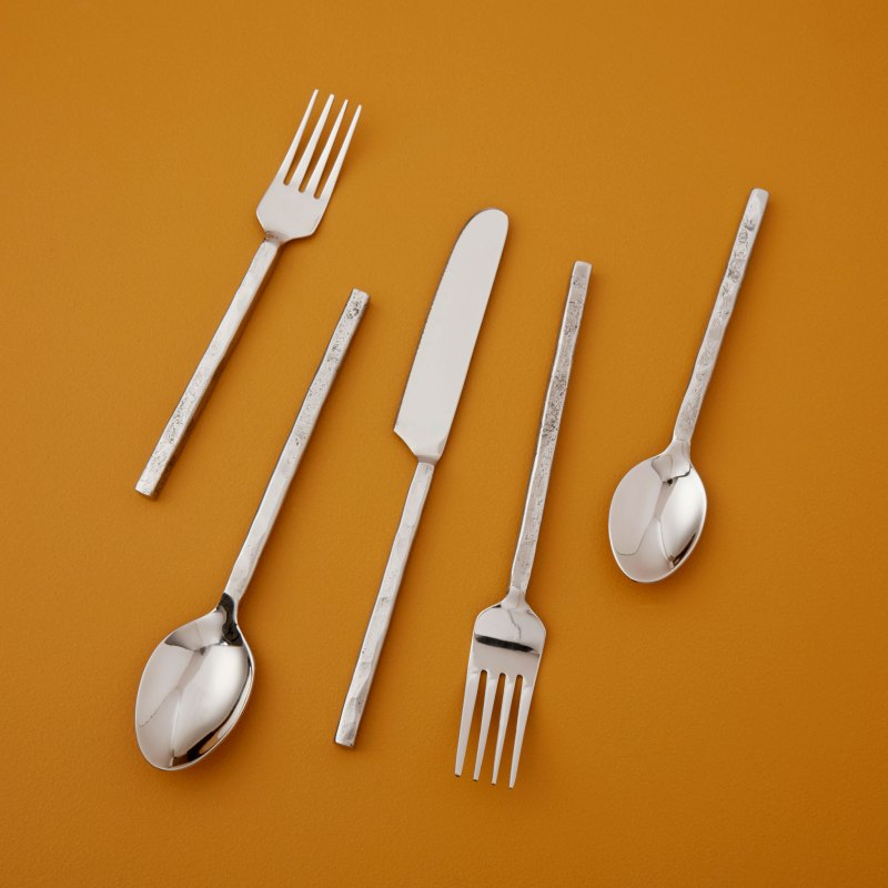 Forged Silver Flatware Set
