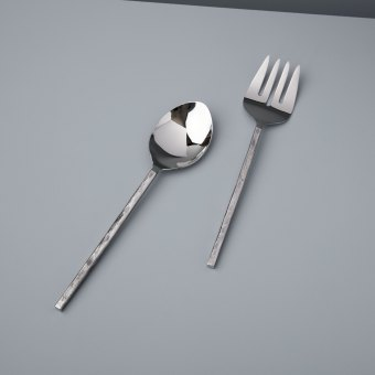 Forged Silver Cheese Set