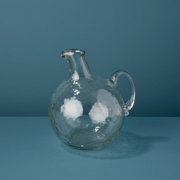 Pebble Glass Globe Pitcher