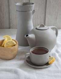 Stoneware Tea Pot, Sterling 3