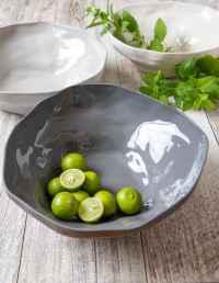 Stoneware Bowl, White, Large 2