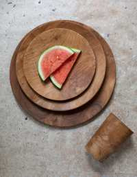 Teak Round Plate Medium 4