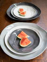 Stoneware Plate Slate, Large 5