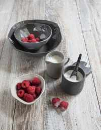 Stoneware Cellar and Spoon Slate 2