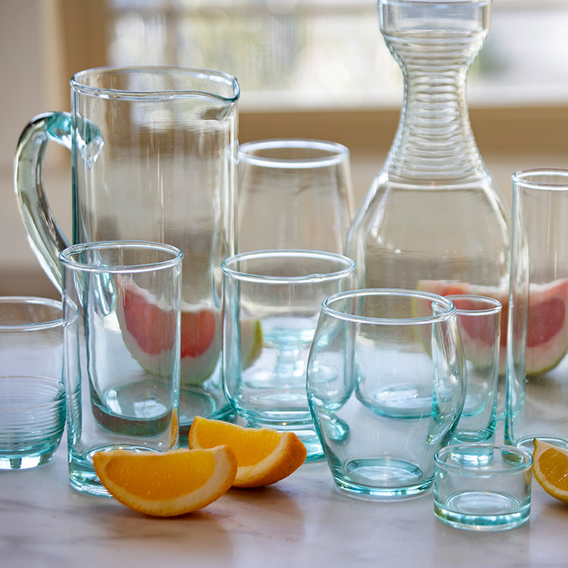 be home material recycled glassware