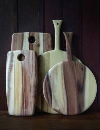Acacia Round Board with Handle Medium 3
