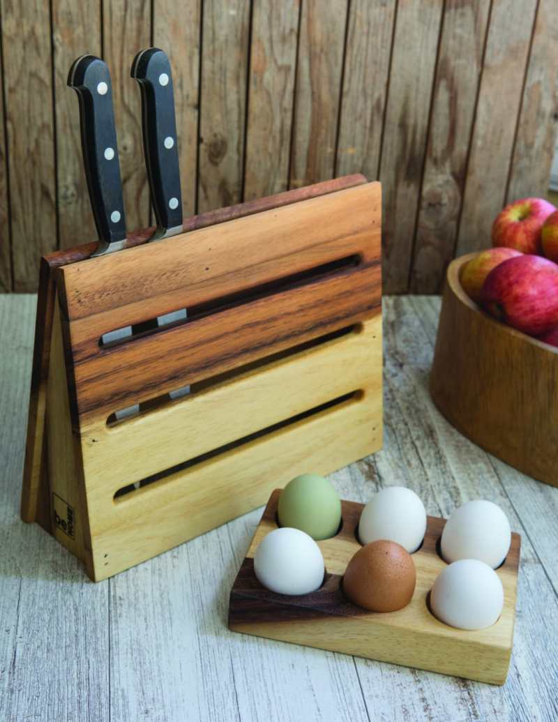 Acacia Egg Holder Half Dozen