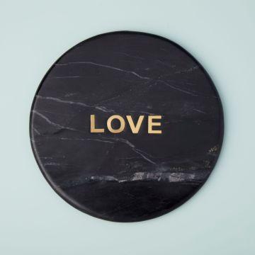"Marine Black Marble ""Love"" Board"