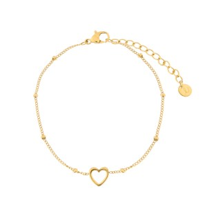 Bracelet open heart gold
