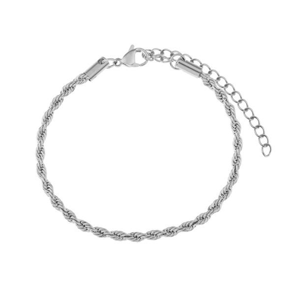 Bracelet twisted silver