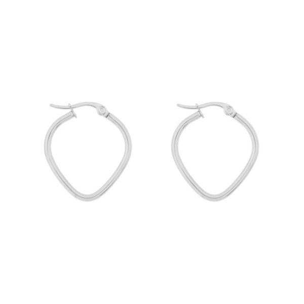 Earrings hoops heart silver