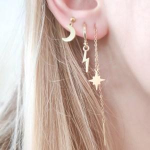 Earrings long chain Northstar