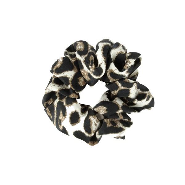 Scrunchie leopard white1