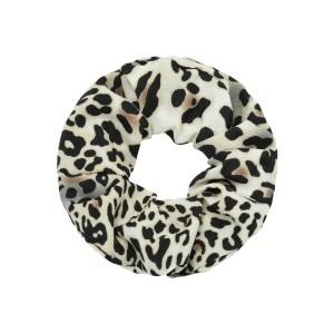 Scrunchie leopard grey