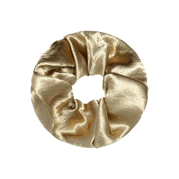 Scrunchie satin gold