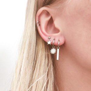 Earrings stud star