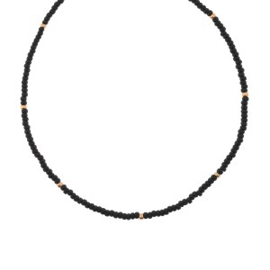 Choker shiny black gold