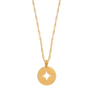 Necklace compass gold