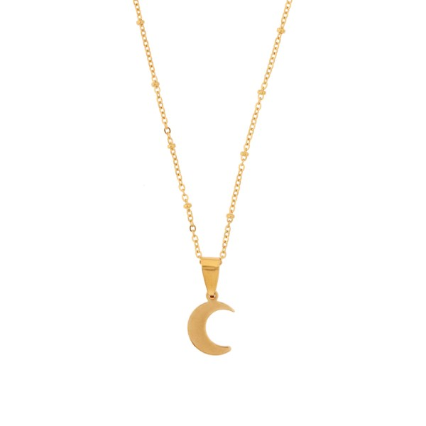 Necklace moon gold