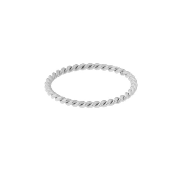 Ring basic twisted silver
