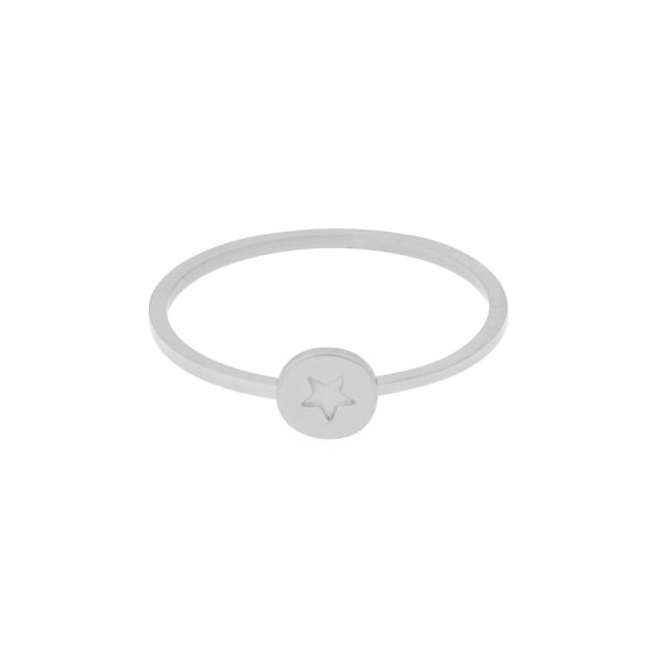 Ring round star silver