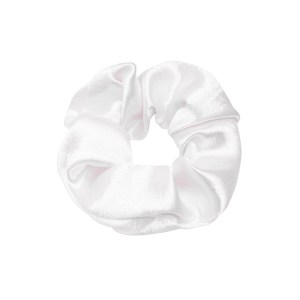 Scrunchie satin white
