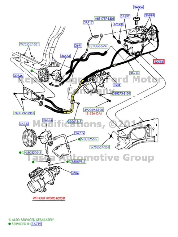 150 4 Ford Steering Hose Power 2 2006 F Diagram