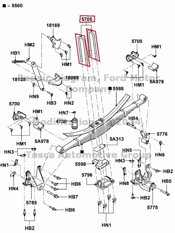 NEW OEM RH OR LH REAR LEAF SPRING U BOLT FORD F450 F550 SD F53 #5C3Z5705MA | eBay