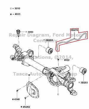 NEW OEM FRONT AXLE VENT HOSE 20082013 FORD F250 F350 F450
