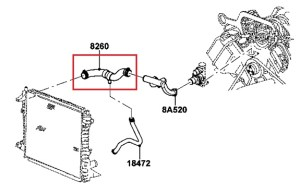OEM UPPER RADIATOR HOSE 20002002 LINCOLN LS 2002 FORD THUNDERBIRD 39L DOHC V8 | eBay