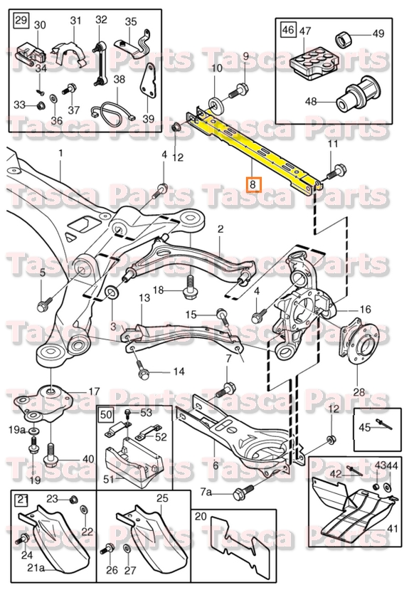 BRAND NEW OEM REAR SUSPENSION STAY ARM 9914 VOLVO S60 S80
