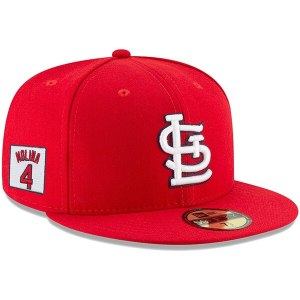 Yadier Molina St. Louis Cardinals New Era Player Patch 59FIFTY Fitted Hat – Red