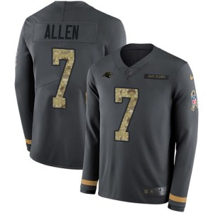 Nike Panthers #7 Kyle Allen Anthracite Salute to S cubs jersey replica vs authentic