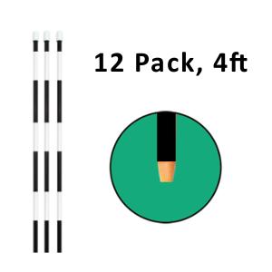 "Reflective Driveway Marker 4"" Black 12 Pack"