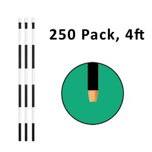 "Reflective Driveway Marker 4"" Black 250 Pack"