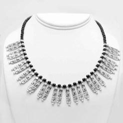 Silver tab necklace