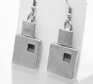 Ethnic silver earrings.
