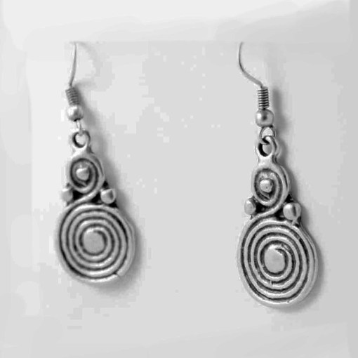 Small spiral earrings