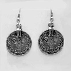 Single coin earrings