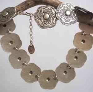 Turkish shield necklace.