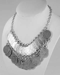 Turkish wholesale coin necklace
