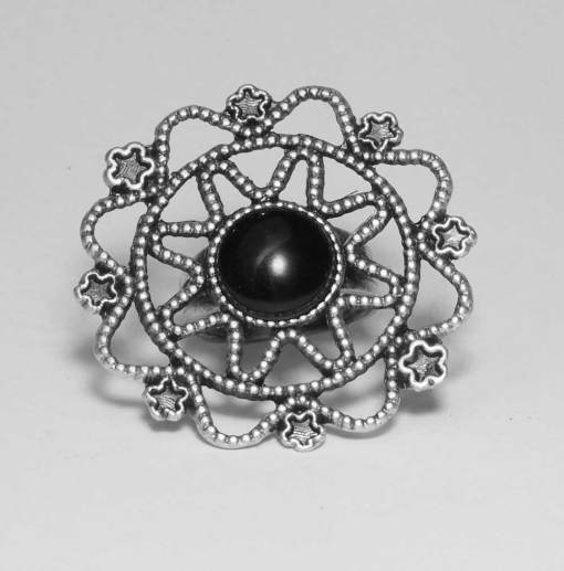 Black rock ethnic ring